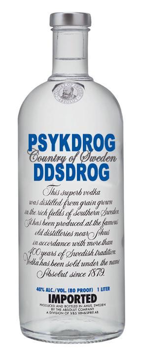Absolut Psykdrog och Dödsdrog Alkohol